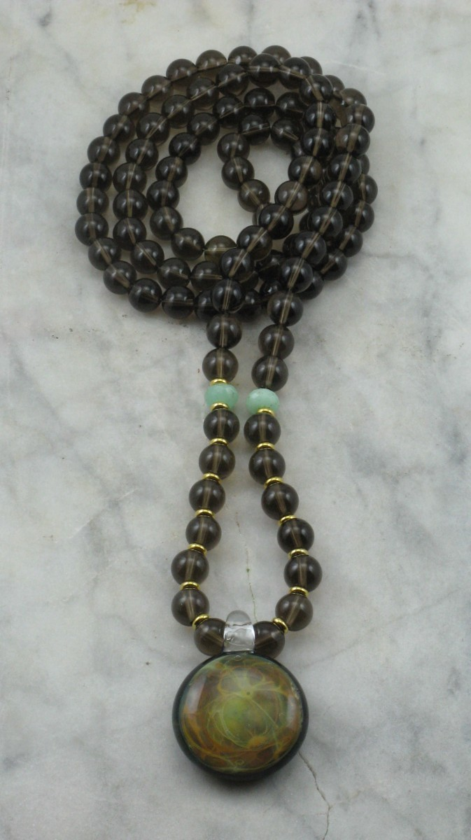 Ray_Of_Light_Mala_Necklace_108_Smoky_Quartz_Mala_Beads_Buddhist_Prayer_Beads