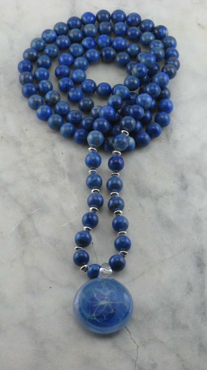 Wind_Mala_Necklace_108_Lapis_Mala_Beads_Buddhist_Prayer_Beads