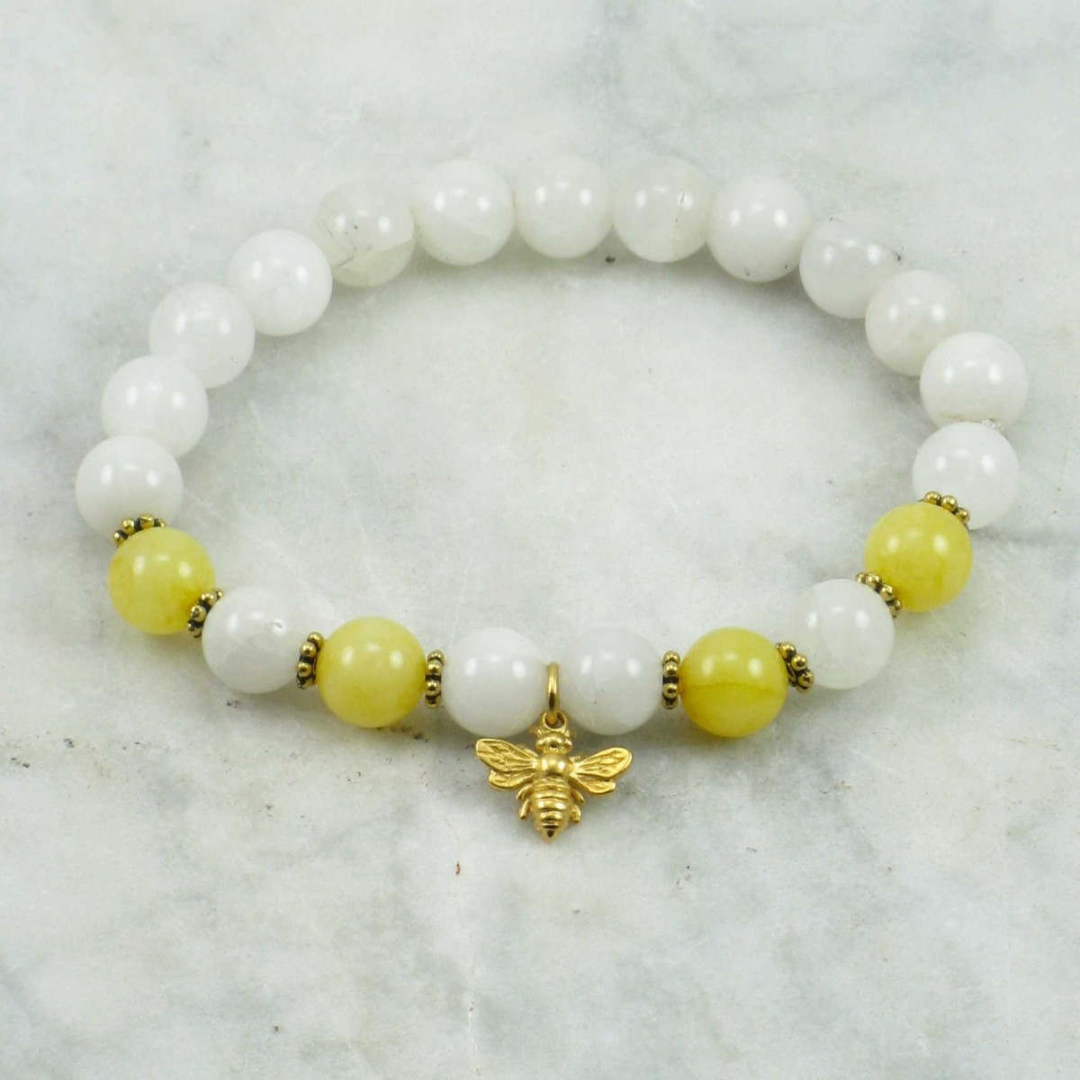 Honey_Mala_Bracelet_21_Quartz_Mala_Beads_Buddhist_Bracelet