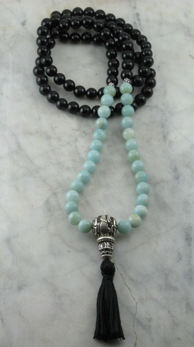MonDragon_Custom_Mala_108_Black_Onyx_Amazonite_Mala_Beads_II