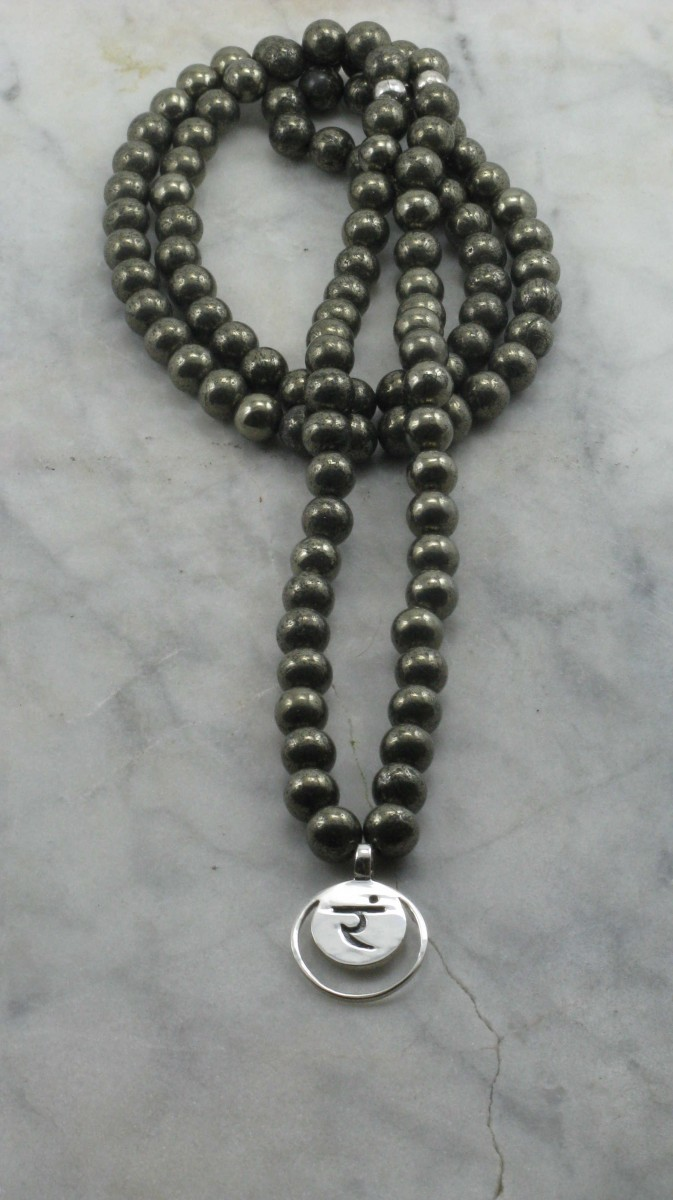 Solar_Plexus_Custom_Mala_Necklace_108_Pyrite_Mala_Beads