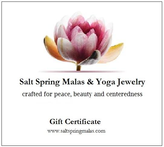 gift certificates mala beads
