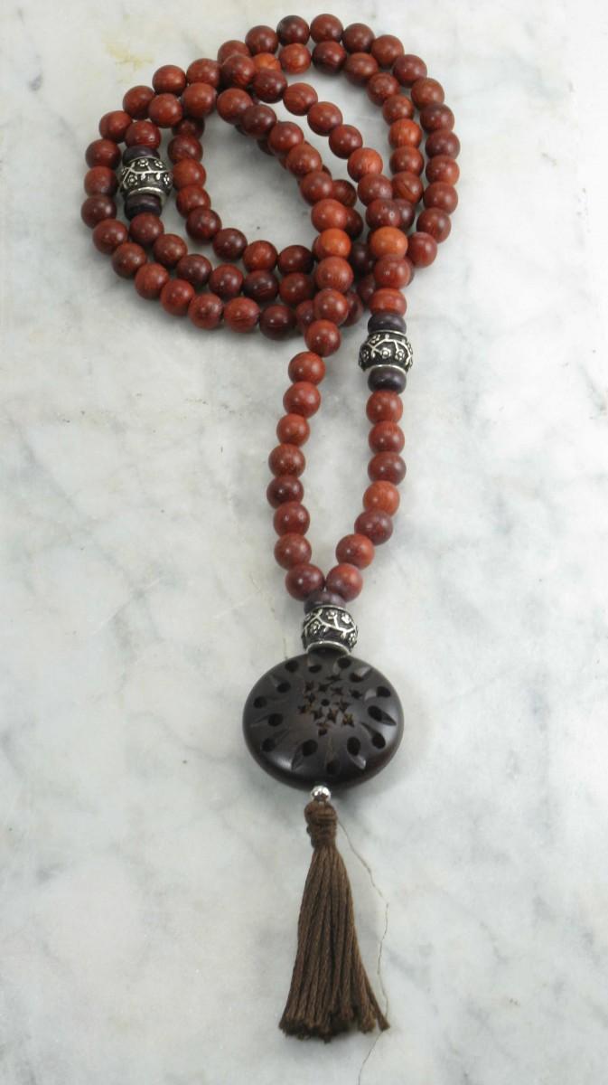 rosewood mala beads