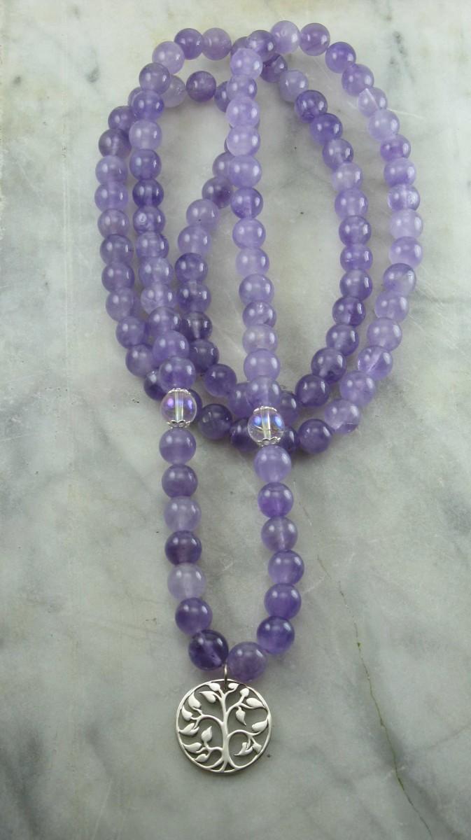 Clarity Mala Necklace 108 Mala Beads Buddhist Prayer Beads