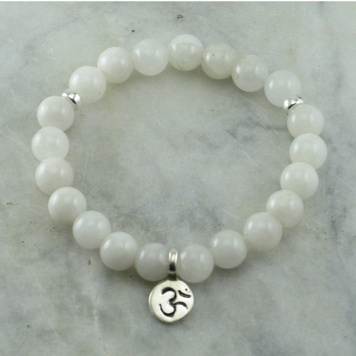 Spirituality_Crown_Chakra_Mala_Bracelet_21_White_Tourmaline_Quartz_Mala_Beads
