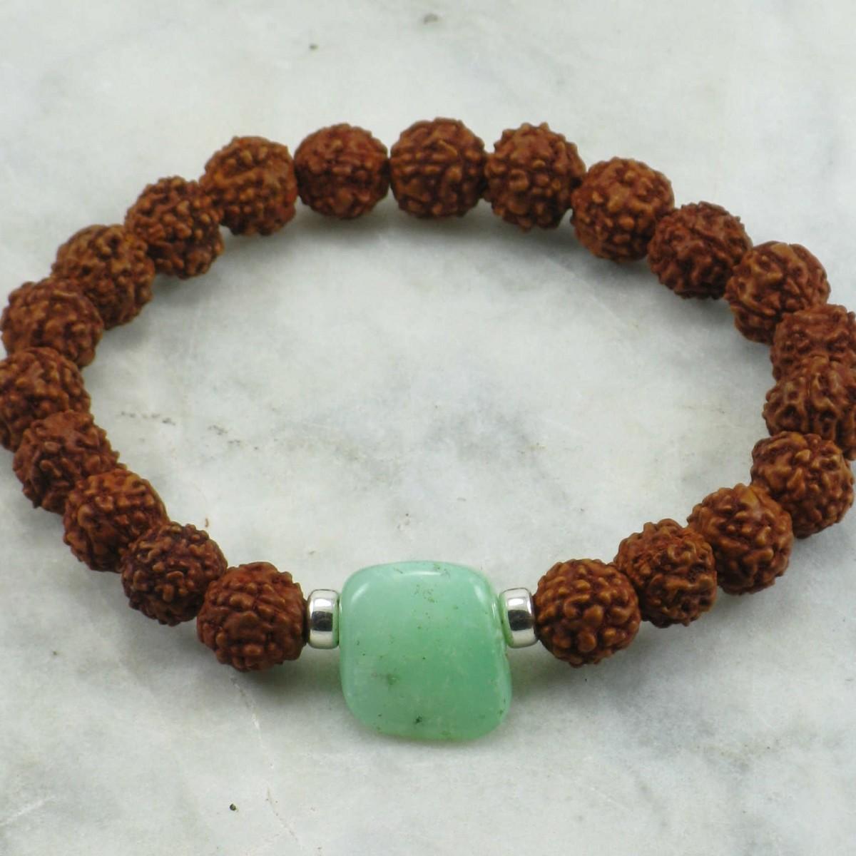 Love_Mala_Bracelet_21_Rudraksha _Mala_Beads_Buddhist_Bracelet