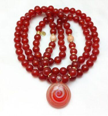 carnelian mala necklace