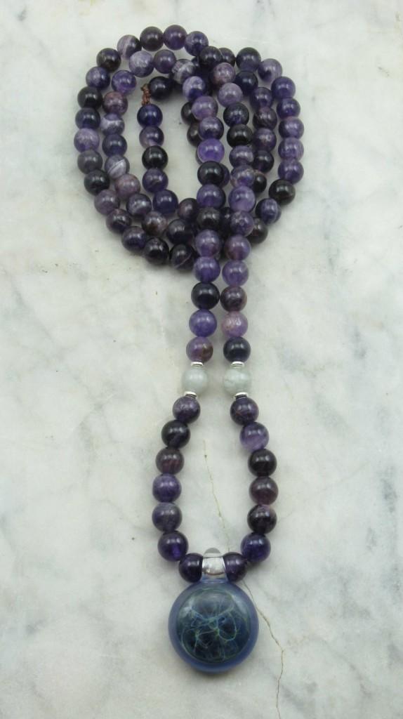 Spirit Mala 108 Amethyst Mala Beads Buddhist Prayer Beads