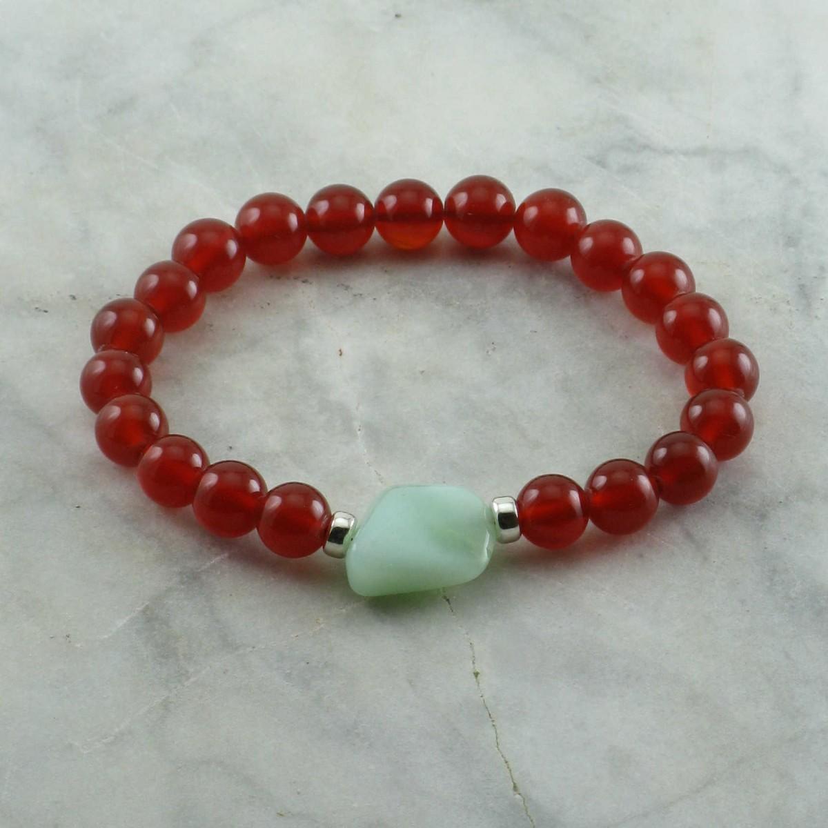 Healing_Mala_Bracelet_21_Carnelian_Mala_Beads_Buddhist_Bracelet