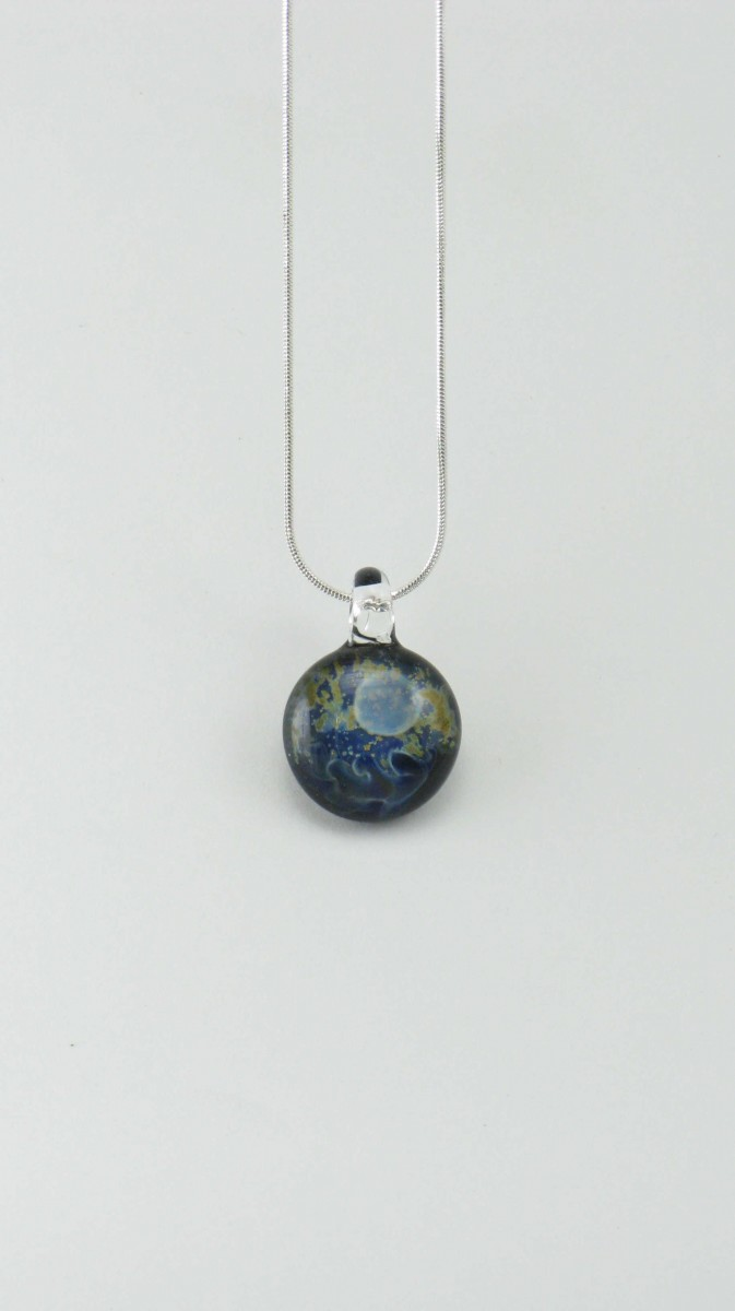 Luna_Yoga_Jewelry_Necklace_Artisan_Glass_Pendant_Silver_Blue