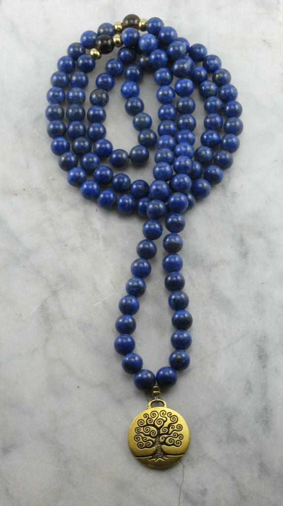 Guidance Mala 108 Lapis Lazuli Mala Beads Buddhist