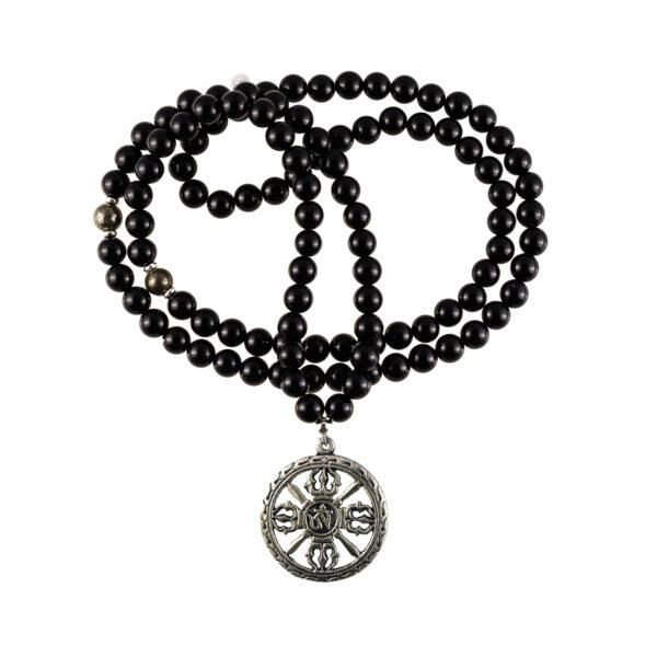 black onyx mala necklace