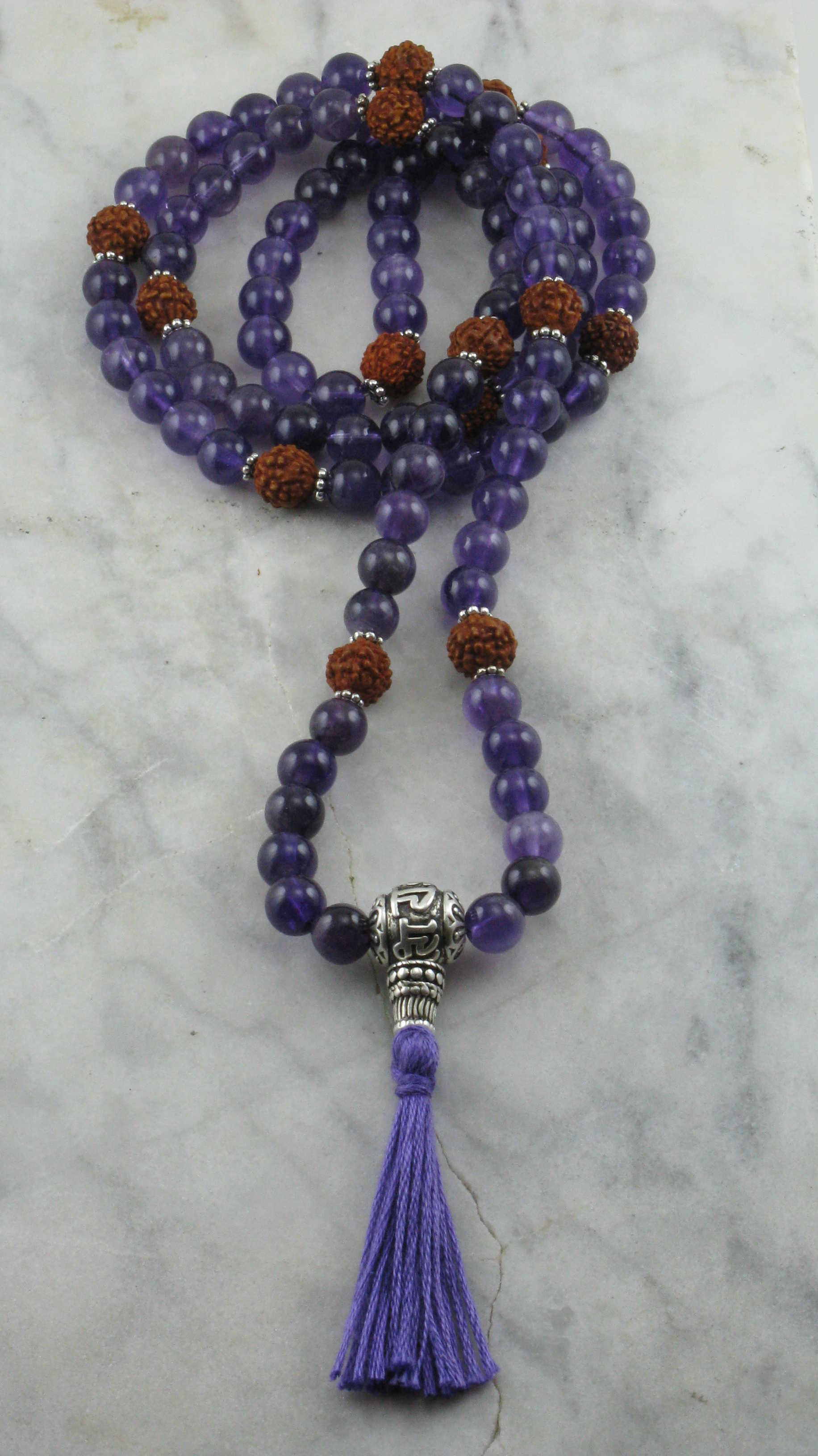 Devotion Mala Beads 108 Amethyst Mala Beads Hindu