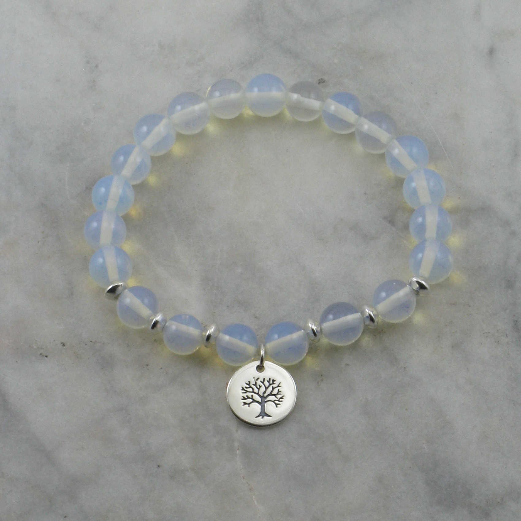 goddess mala bracelet 21 moonstone mala tree of