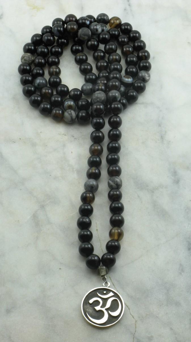 OM_Mala_108_Black_Agate_Mala_Beads_Buddhist_Prayer_Beads_II