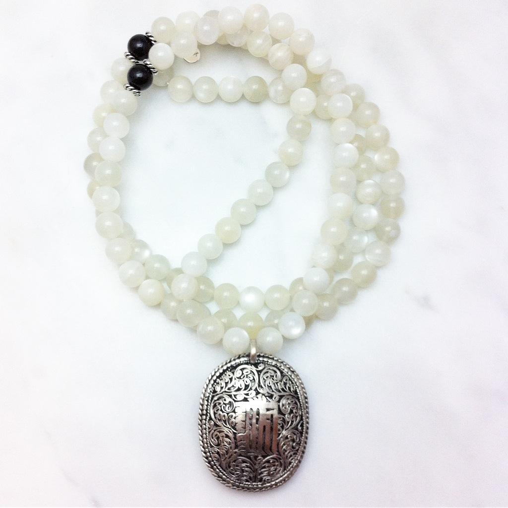 moonstone mala necklace