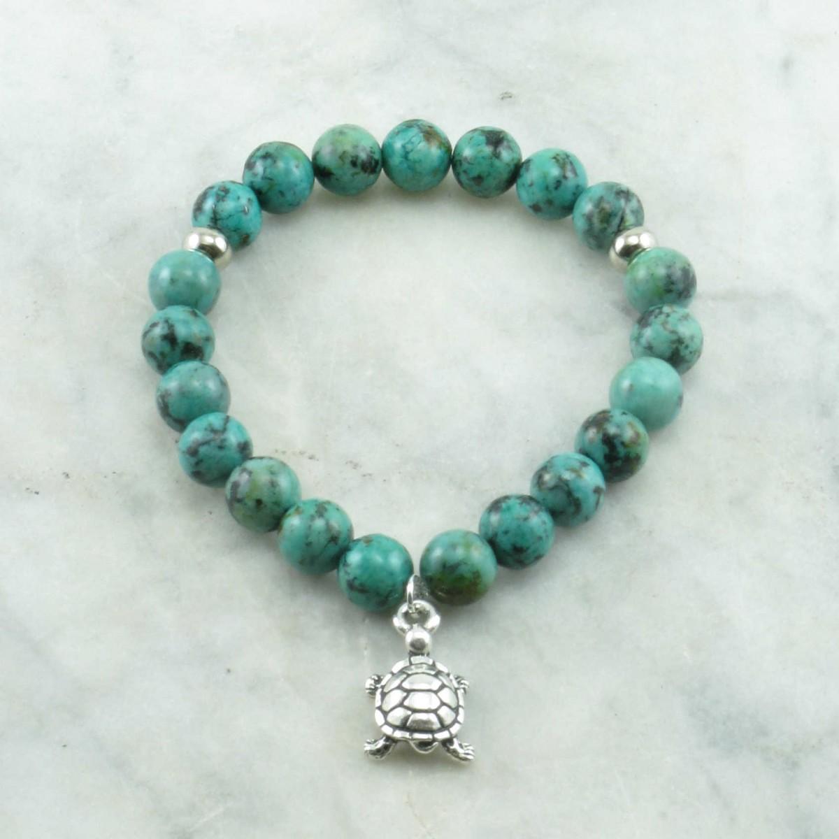 creation mala bead bracelet 21 turquoise mala beads. Black Bedroom Furniture Sets. Home Design Ideas