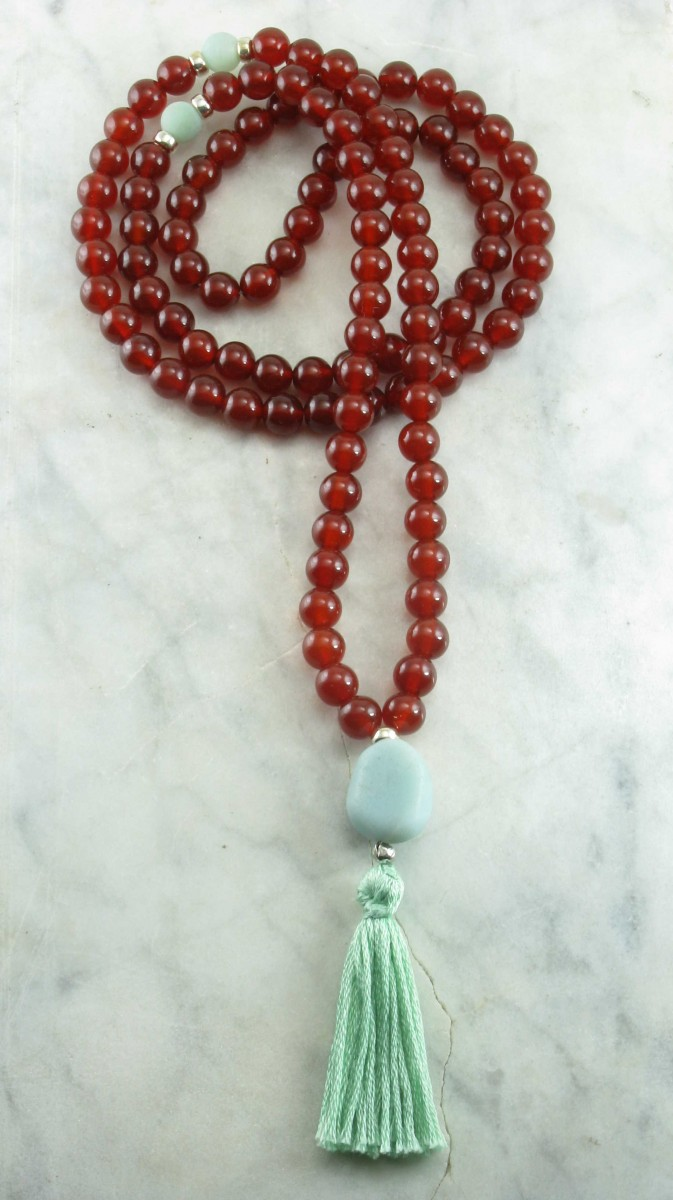 Healing_Mala_Beads_108_Carnelian_Mala_Beads__Amazonite_Buddhist_Prayer_Beads