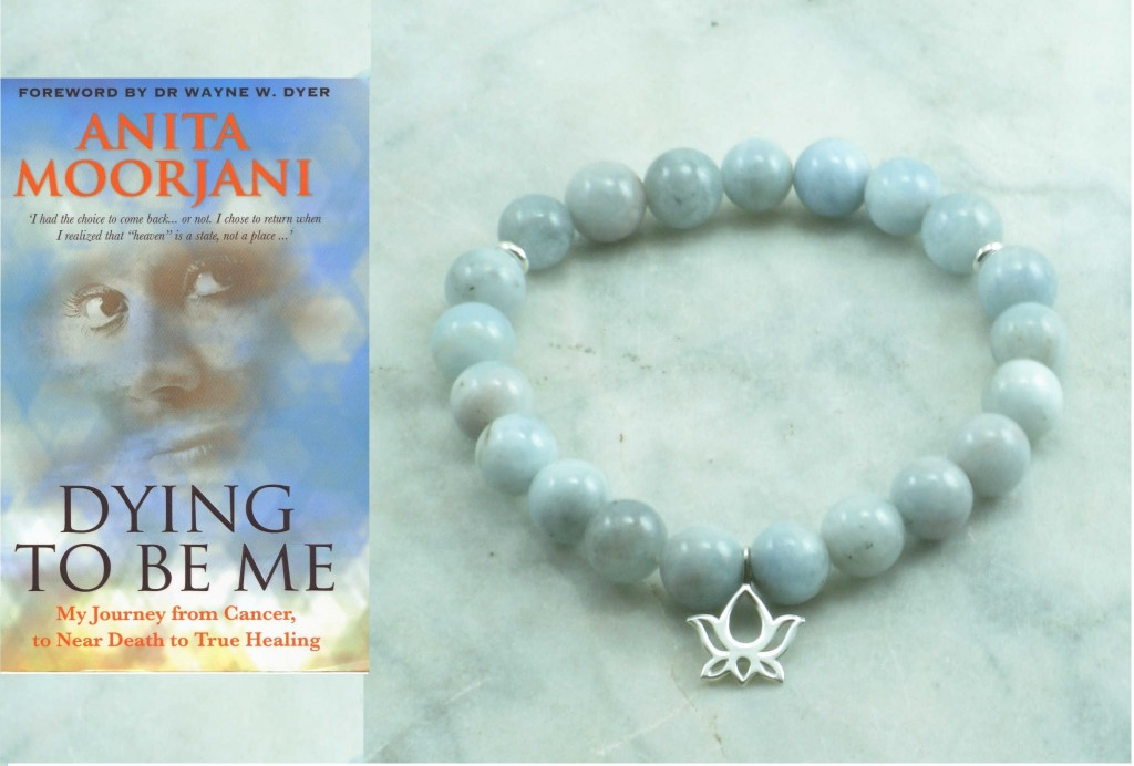 My Yoga Practice: Reading Dying to be Me, Releasing Anxieites, and Aquamarine Mala Beads
