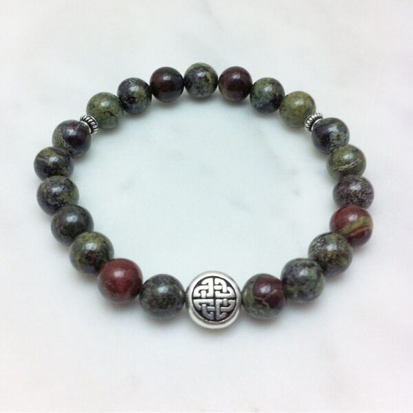 dragons blood jasper mala bracelet