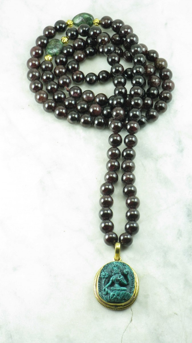 Green_Tara_Garnet_Emerald_Mala_Beads_Buddhist_Prayer_Beads