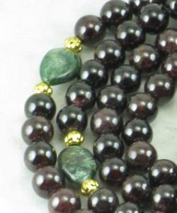 Green_Tara_Garnet_Emerald_Mala_Beads_Buddhist_Prayer_Beads_Markers
