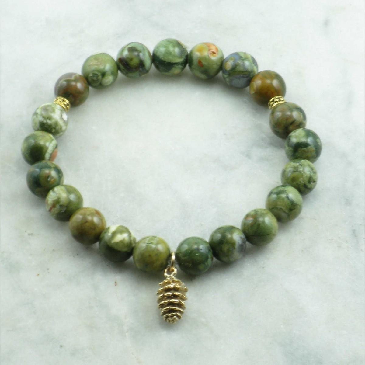 Nature_Mala_Bracelet_21_Rainforest_Jasper _Mala_Beads_Buddhist_Bracelet