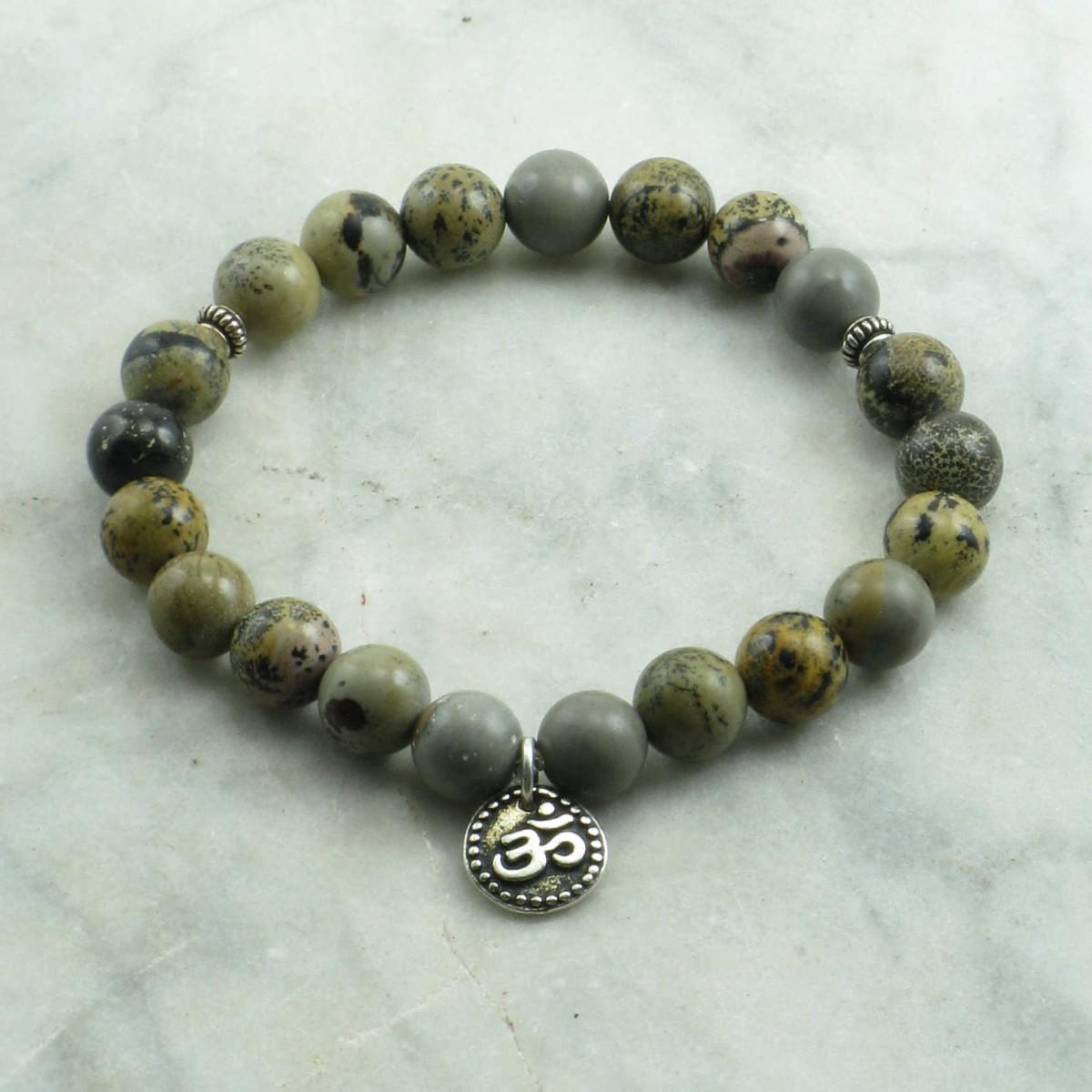 Satsang_Mala_Bracelet_21_Artistic_Stone_Mala_Beads_Buddhist_Bracelet