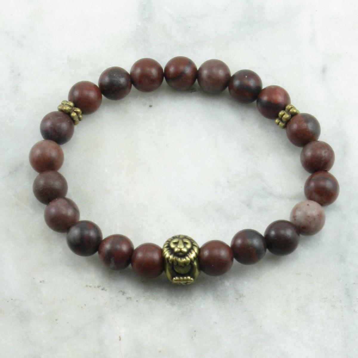 Simha_Mala_Bracelet_21_Red_Jasper_Mala_Beads_Buddhist_Bracelet