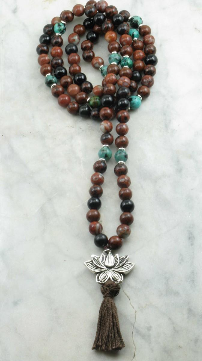 Parvata_Mala_Obsidian_Fire_Opal_Turquoise_Mala_Beads