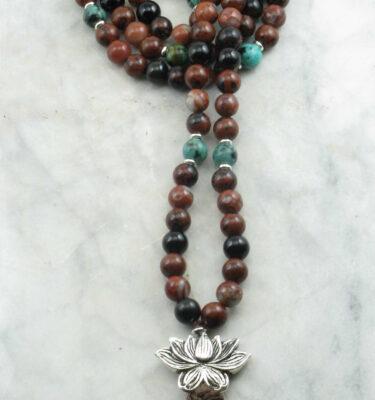 obsidian mala beads