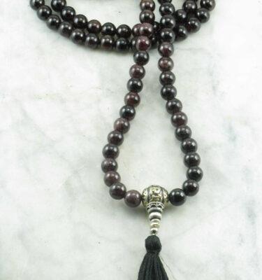 garnet mala beads