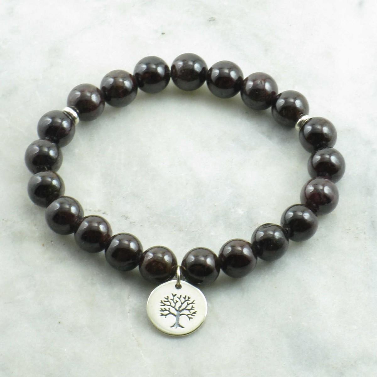Vriksa _Mala_Bracelet_21_Garnet_Mala_Beads_Buddhist_Bracelet