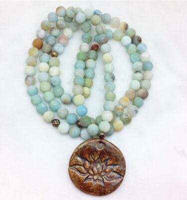 amazonite mala necklace