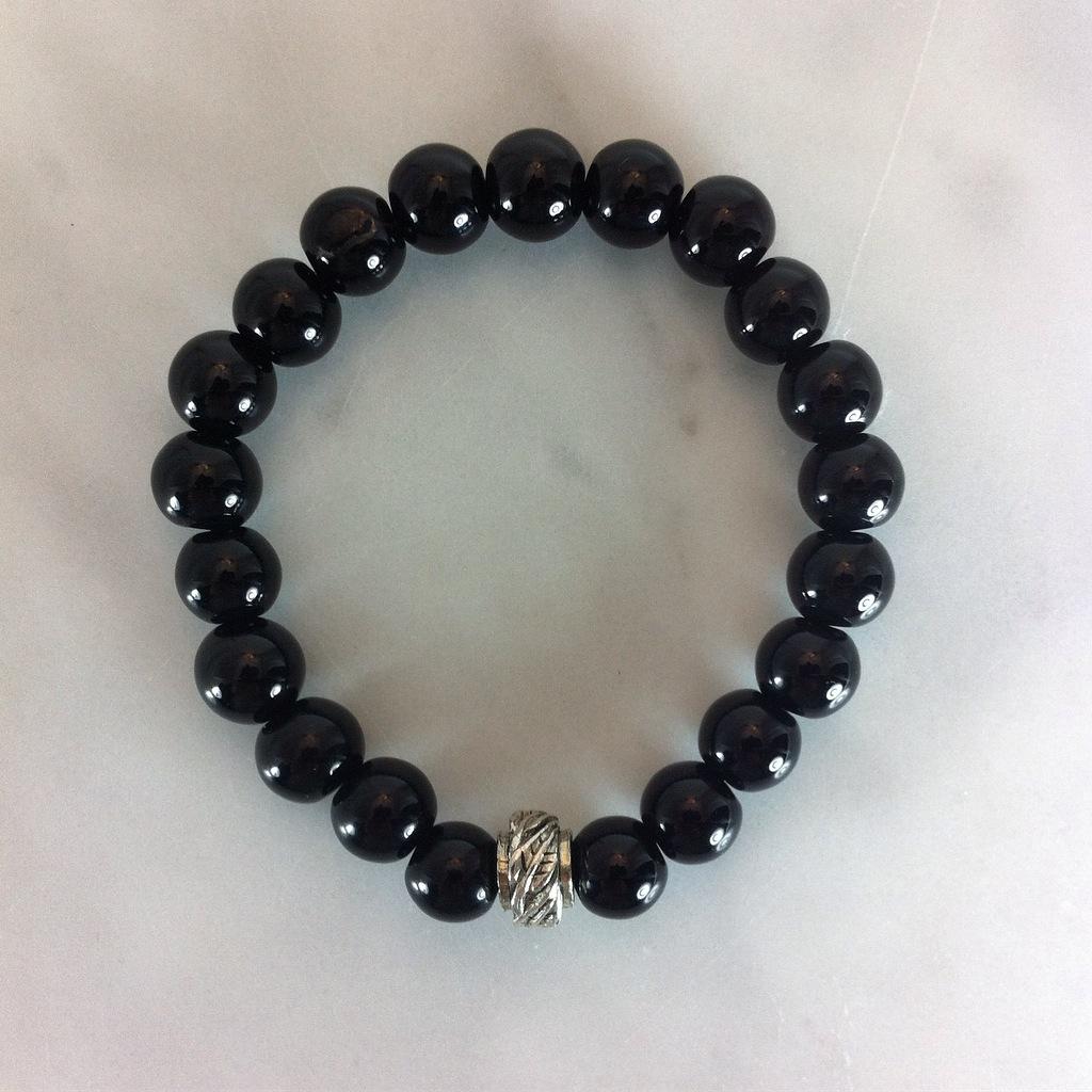 Mala Bead Bracelet for Men from Black Onxy
