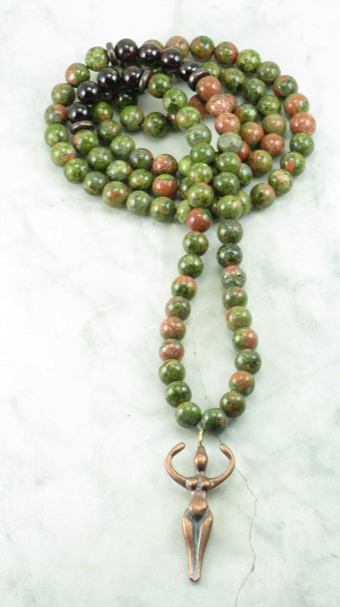 Maternity_Mala_Beads_108_Unakite_Mala_Beads_Buddhist_Prayer_Beads_Garnet_and_Unakite