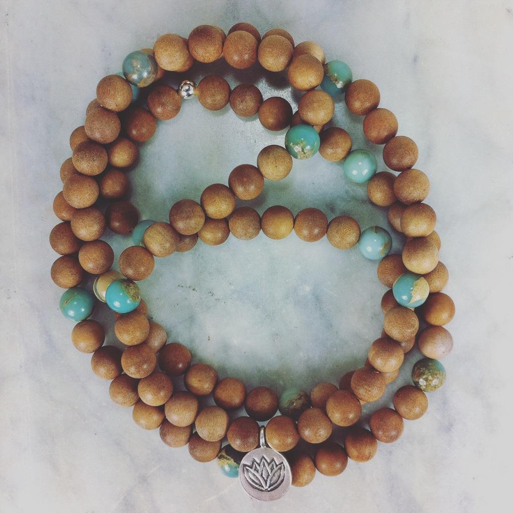 108 serpentine mala beads.  Buddhist Prayer Beads for calming, soothing, transformation, spiritual awakening, and chakra alignment