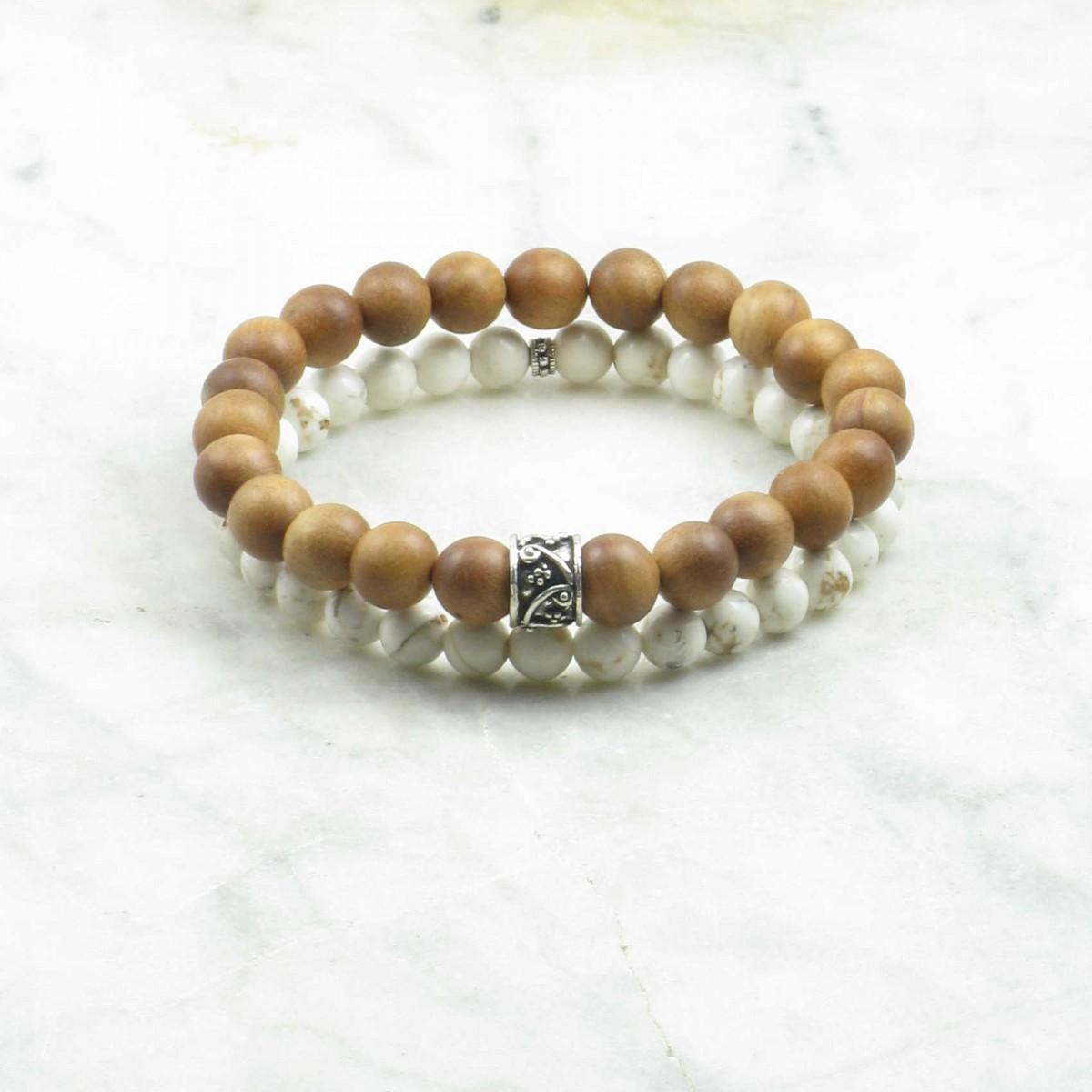 Walden_Bracelets_for_Men_Mala_Beads_Stacks_Sandalwood_Howlite_Buddhist_Prayer_Beads
