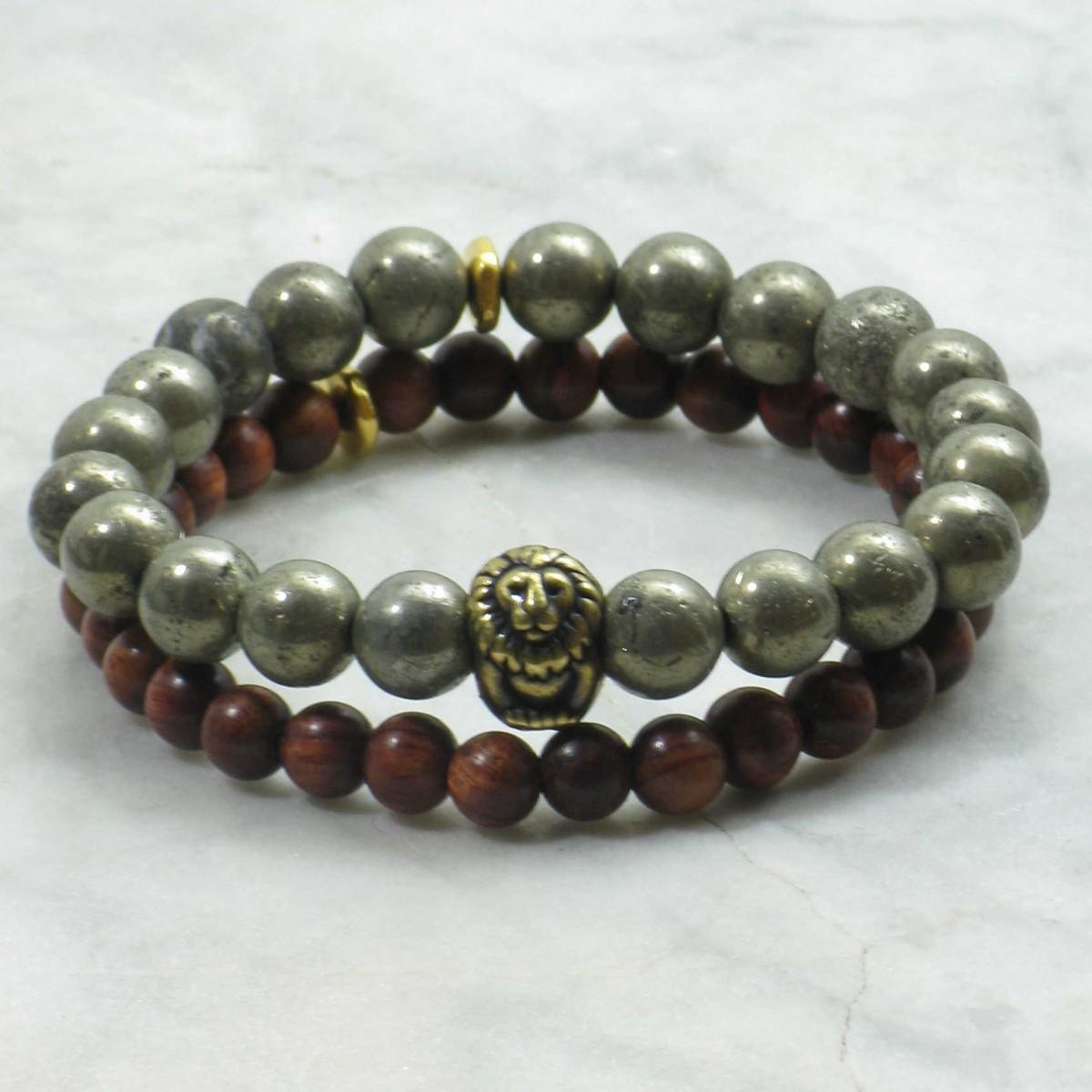Regal_Bracelets_for_Men_Mala_Beads_Stacks_Pyrite_Mala_Beads_Rosewood_Buddhist_Prayer_Beads