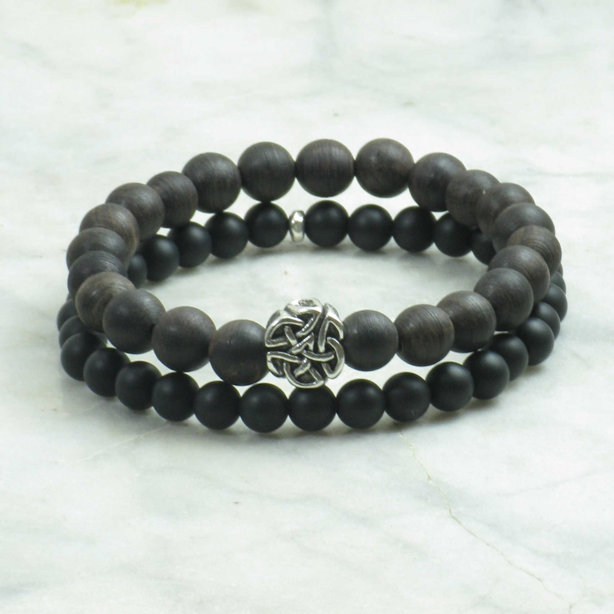 Sakya_Bracelets_for_Men_Mala_Beads_Stacks_Agarwood_Black_Agate_Buddhist_Prayer_Beads