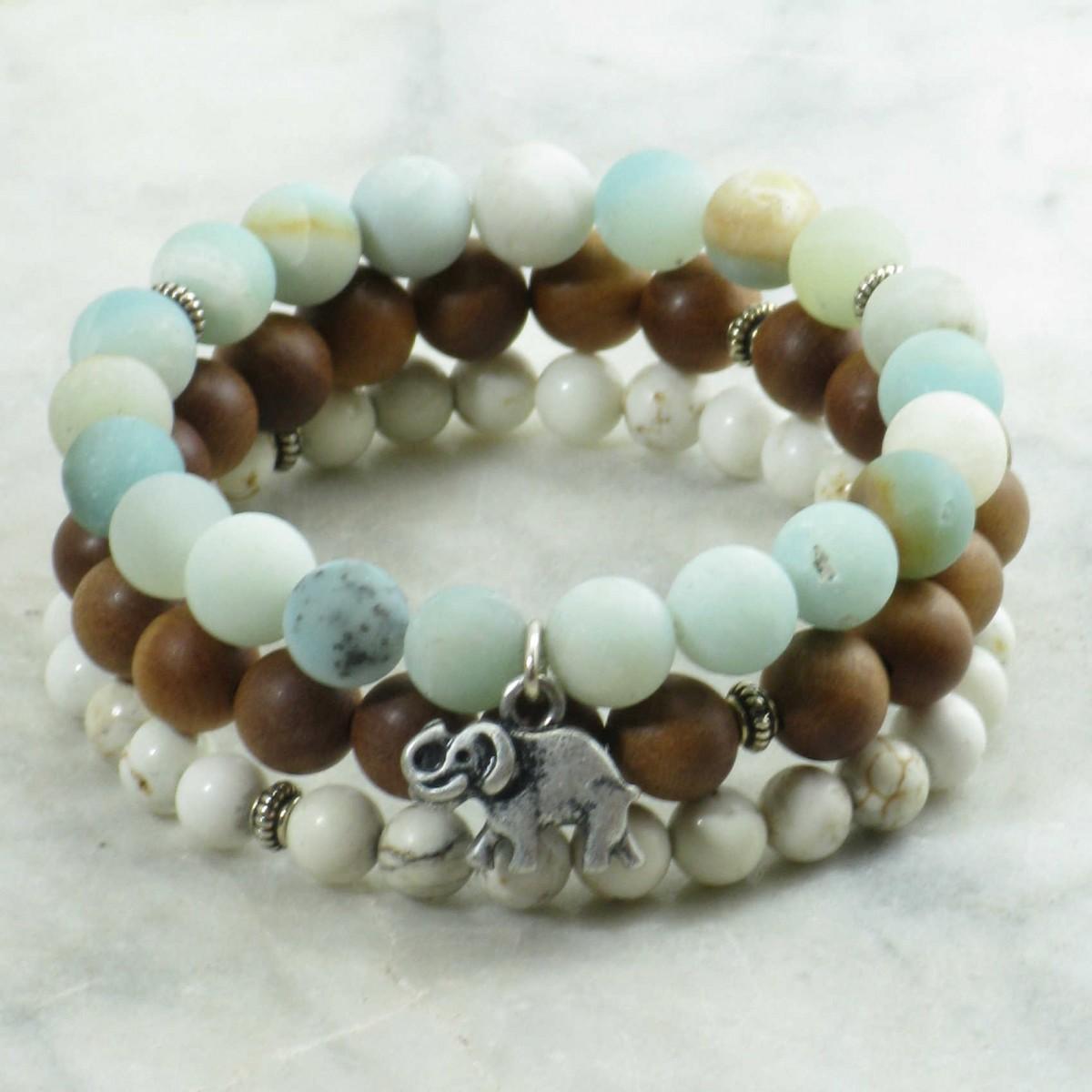 Airavata_Mala_Beads_21_Amazonite_Sandalwood_Howlite_Mala_Beads_Buddhist_Prayer_Beads