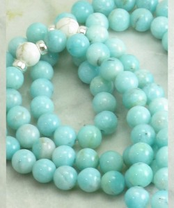 Ashrays_Mala_Beads_108_Amazonite_Buddhist_Prayer_Beads_Spacers