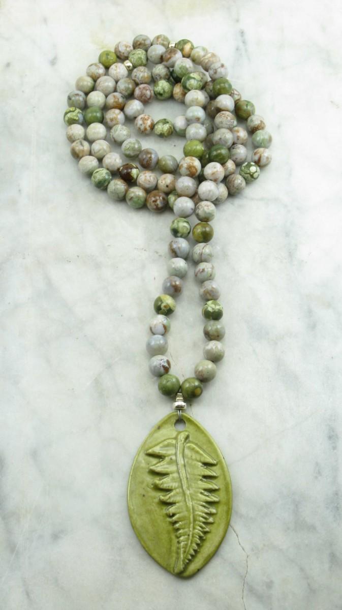 Eden_Mala_Beads_108_Green_Picture_Jasper_Mala_Beads_Buddhist_Prayer_Beads