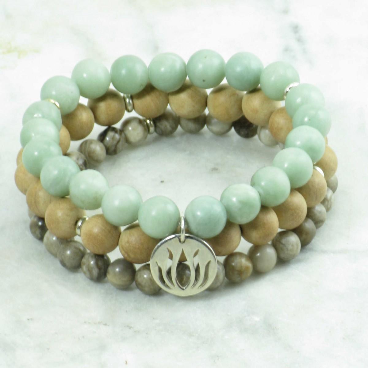Joy_Mala_Beads_Stack_21_Jade_Jasper_Thuja_Mala_Beads_Buddhist_Prayer_Beads