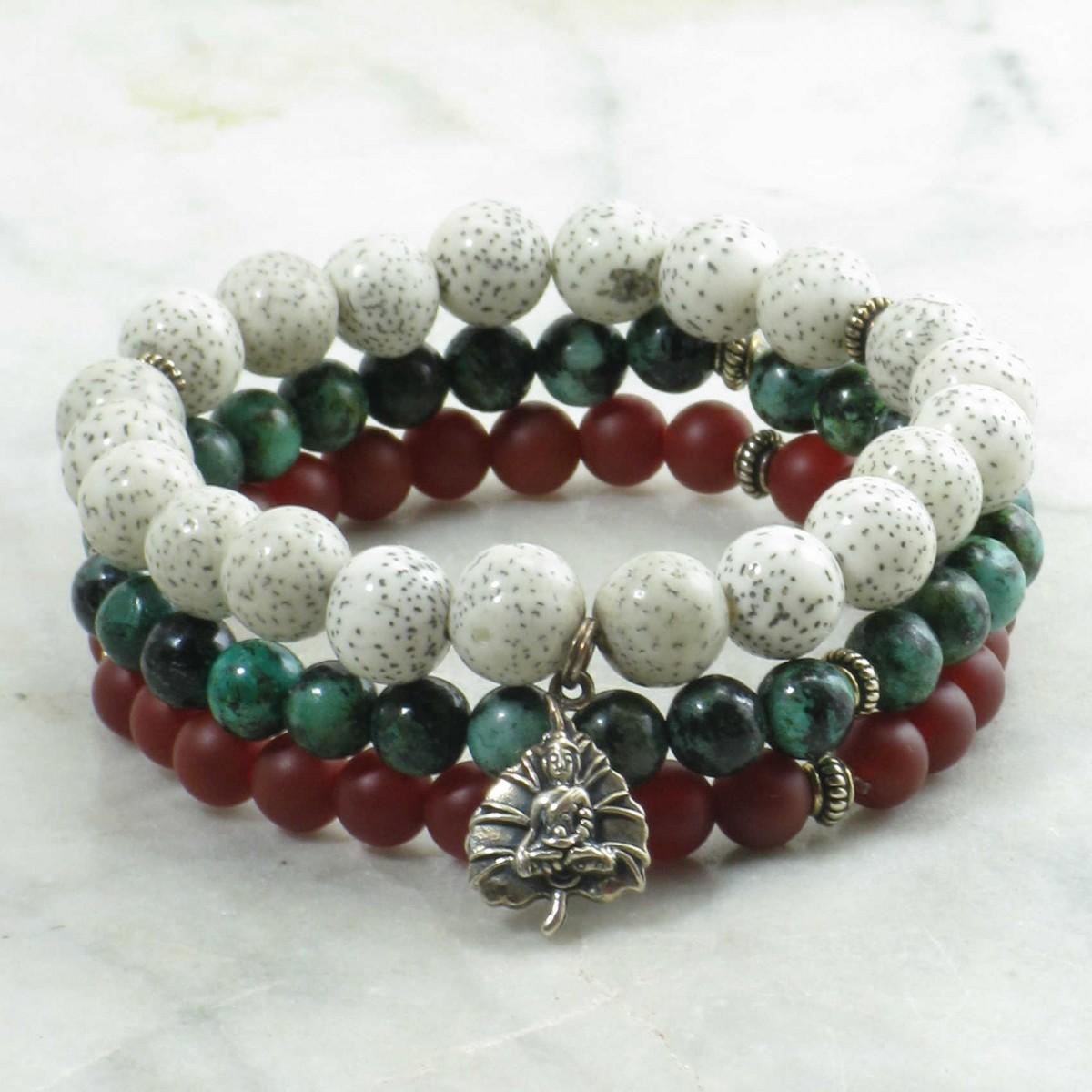 Nirvana_Mala_Beads_Stack_21_Lotus_Seeds_Turquoise_Red_Agate_Mala_Beads_Buddhist_Prayer_Beads