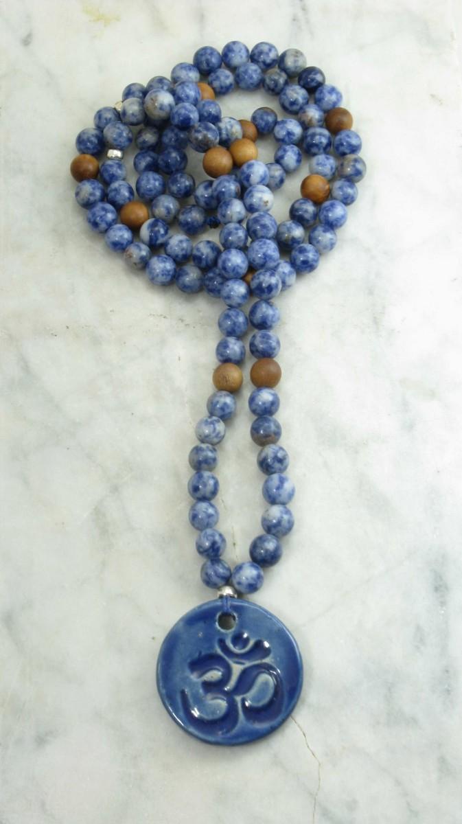 Brahma_Mala_Beads_108_Denim_Lapis_Sandalwood_Mala_Beads_Buddhist_Prayer_Beads
