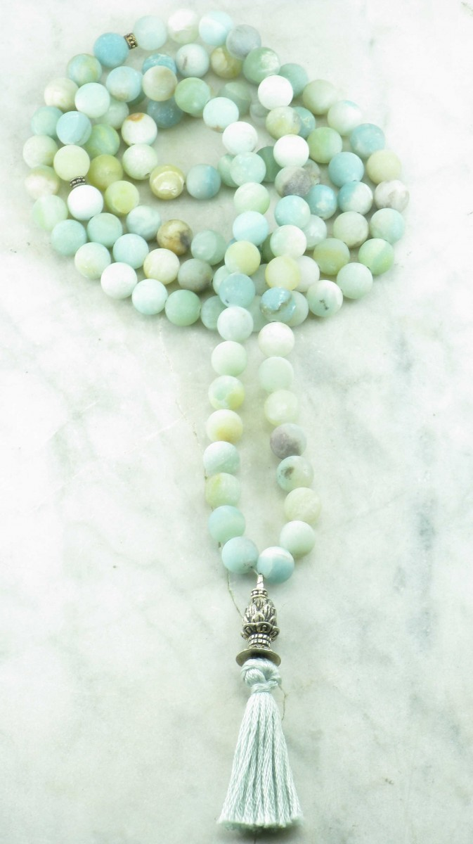 Sapana_Mala_Beads_108_Amazonite_Mala_Beads_Buddhist_Prayer_Beads