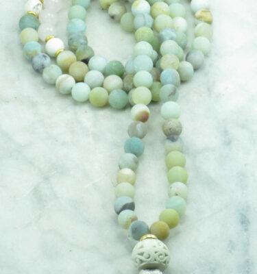 amazonite mala beads