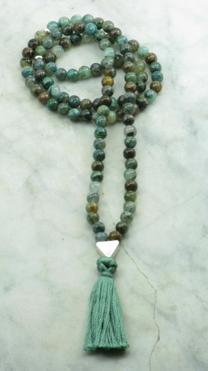 Sandhi_Wrist_Malas_Chrysocolla_108_Mala_Beads