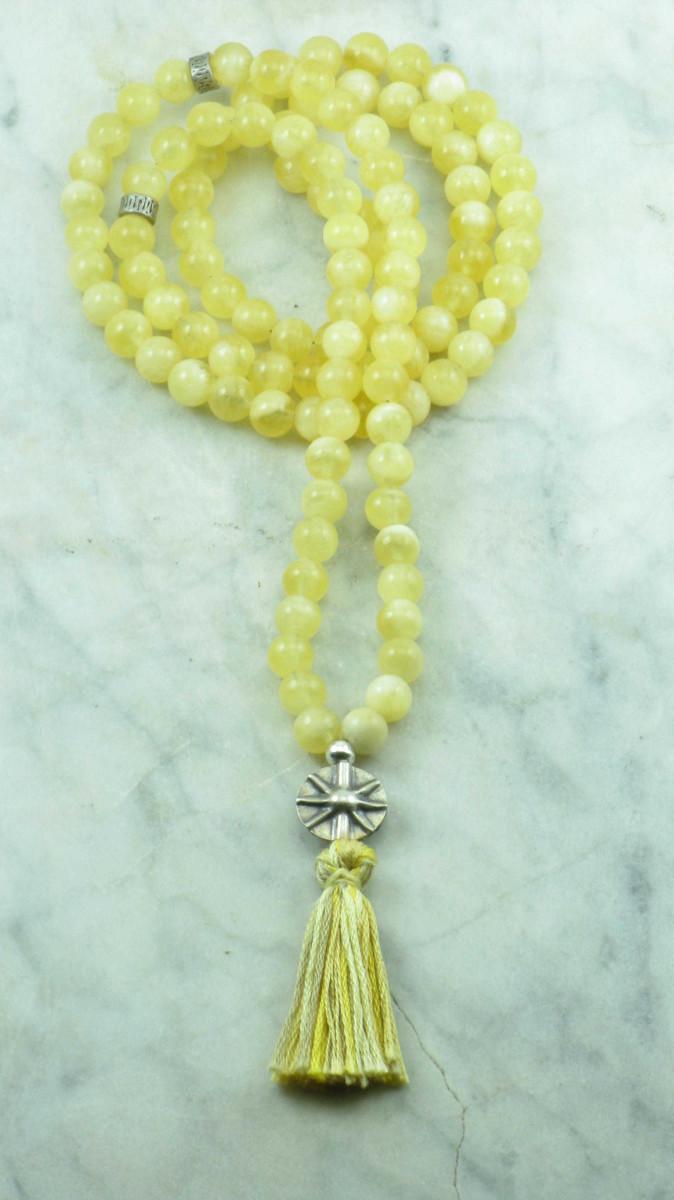 Sun_Salutation_Mala_Beads_108_Honey_Calacite_Mala_Beads_Buddhist_Prayer_Beads